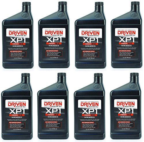 DRIVEN Joe Gibbs Racing Oil 00006 XP1 5W-20 Synthetic Racing Motor Oil - 1 Quart Bottle (1 Quart (32 Ounces) (pack of 8))