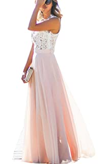 897cd187f121f9 Damen Kleid Festliche A Line Swing Kleider Brautjungfer Hochzeit  Cocktailkleid Chiffon Faltenrock Elegant Langes Abendkleid