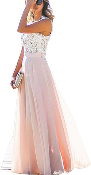 Damen Kleid Festliche A Line Swing Kleider Brautjungfer Hochzeit  Cocktailkleid Chiffon Faltenrock Elegant Langes Abendkleid