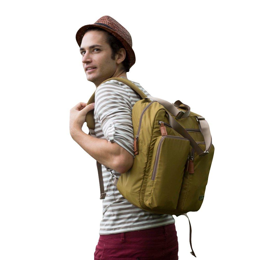 Bebamour Diaper Bag Nappy Bags Backpack for Women& men (dark yellow) BeK080202