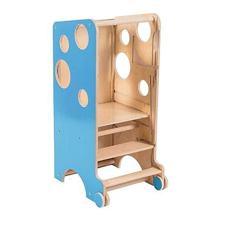 Leeas Learning Tower - Taburete Multifuncional para niños, para encimera, ayudante, Silla Alta