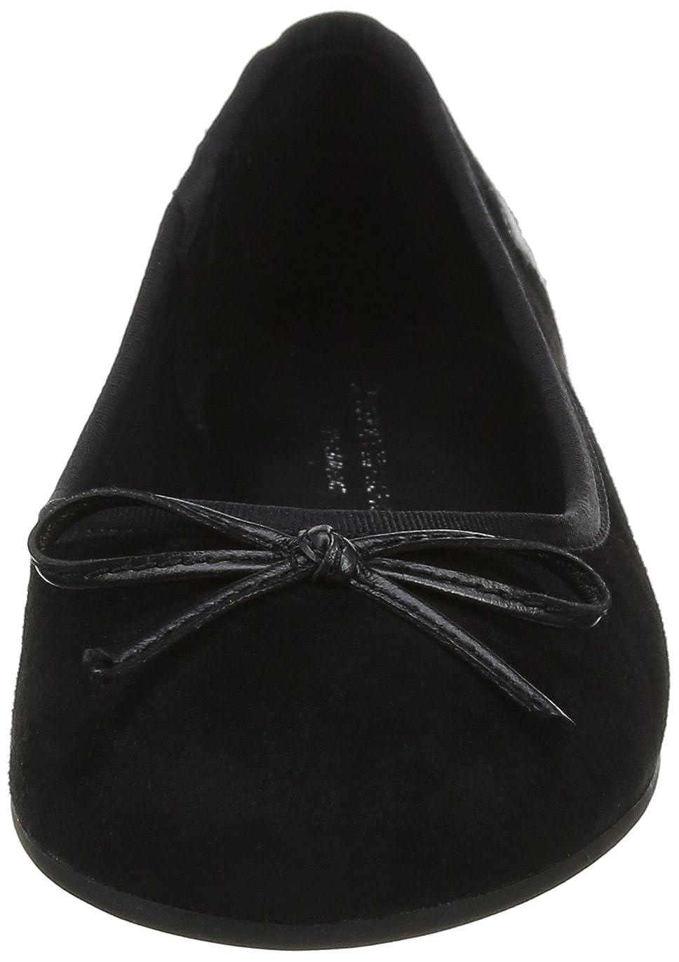 Tommy Hilfiger Geschlossene Damen Elevated Suede Ballerina Geschlossene Hilfiger Ballerinas Schwarz (schwarz 990) 5484d6