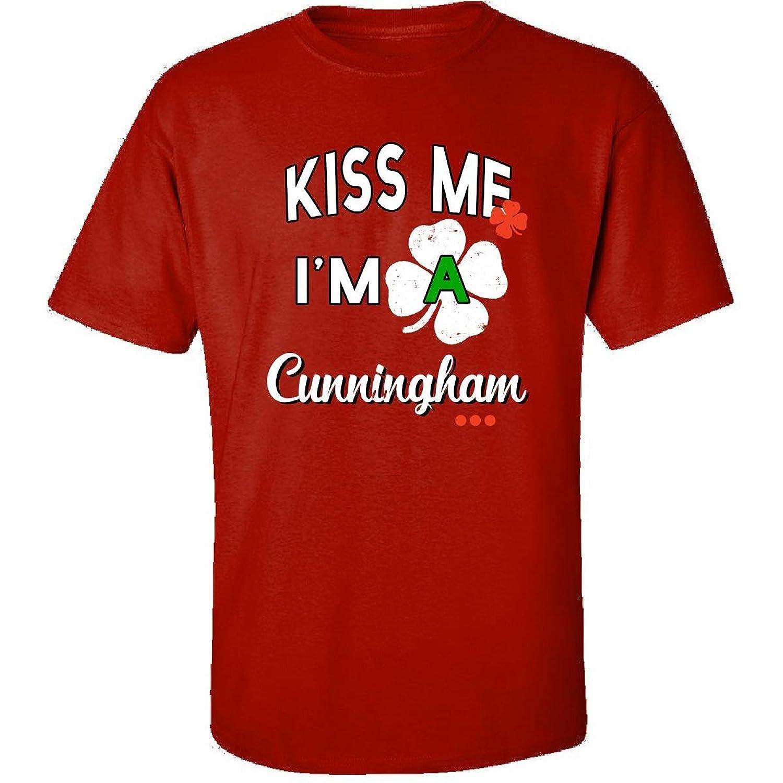 Funny St Patricks Day Irish Gift - Kiss Me Im A Cunningham - Adult Shirt