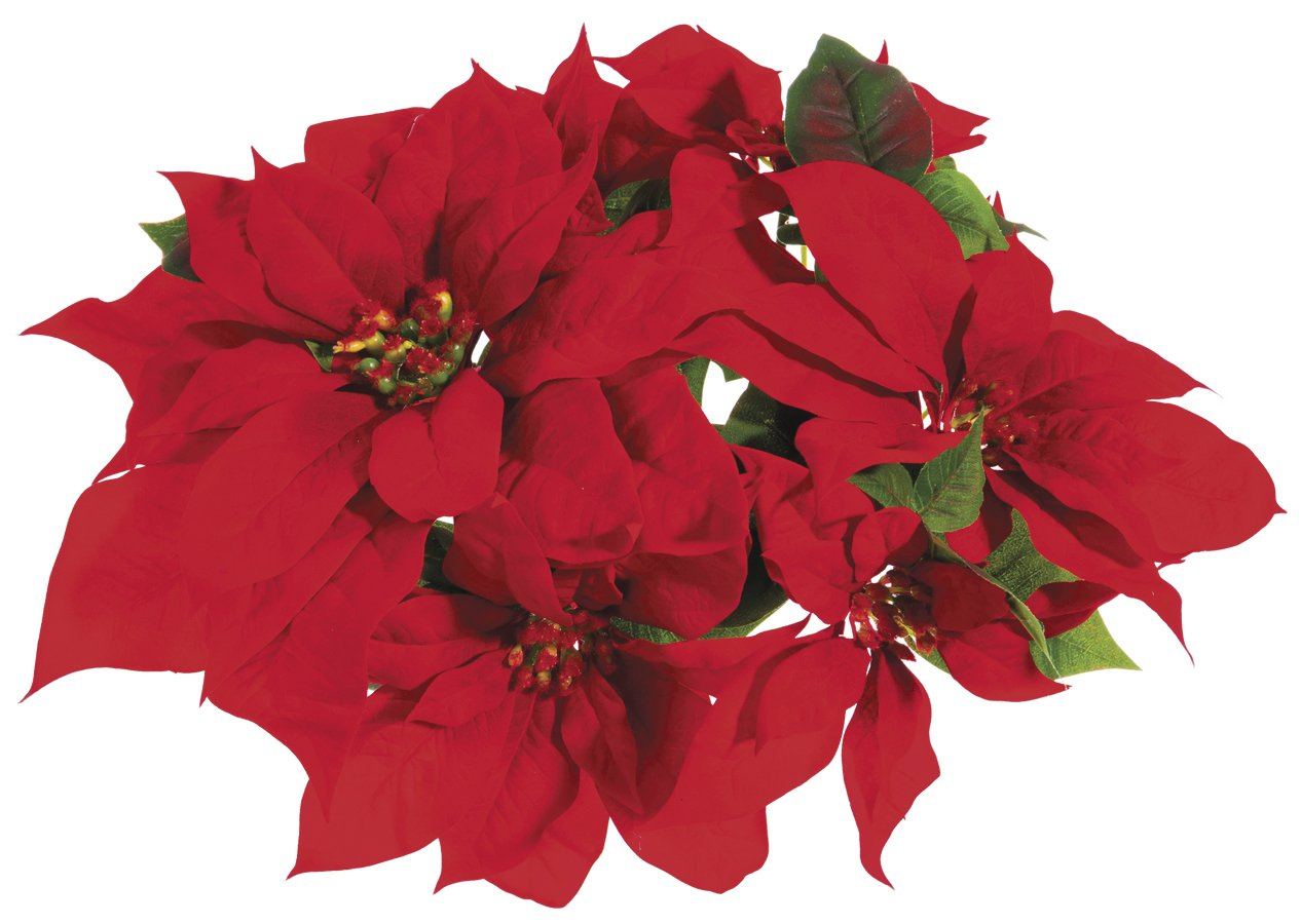Red Poinsettia Christmas Velvet Candle Ring for 3 Inch Pillar Candle ALL XPC006-RE