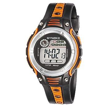 Cebbay Reloj para niños Reloj Deportivo Unisexo LED Impermeable Digital  Moda Casual Liquidación Reloj (Naranja b1e130d923b7