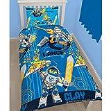 Lego Nexo Knights Childrens/Kids Power Reversible Single Bedding Set (Twin) (Blue)