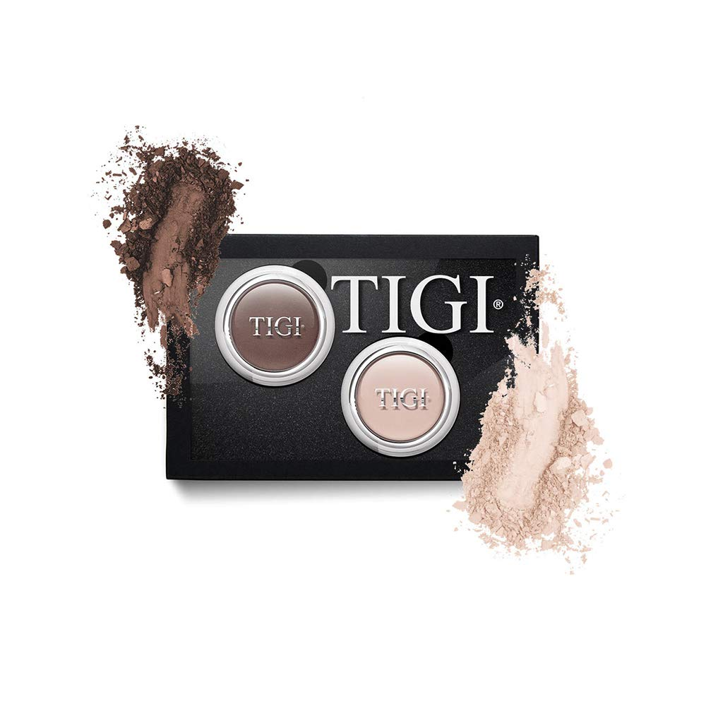 Tigi Cosmetics Single Eyeshadow 2 Piece Assortment, Choc/vanilla, 3.7 Ounce