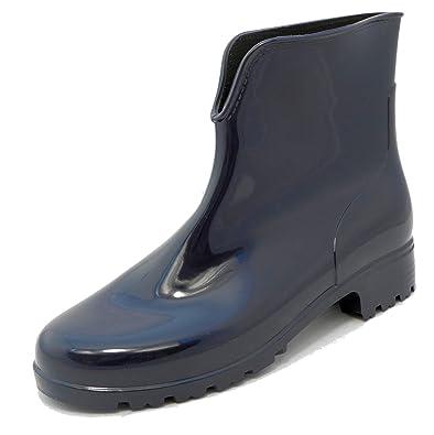 eca37d91127 Stormwells Ladies Womens Blue Shiny Ankle Wellies Wellington Boots Sizes 3-8