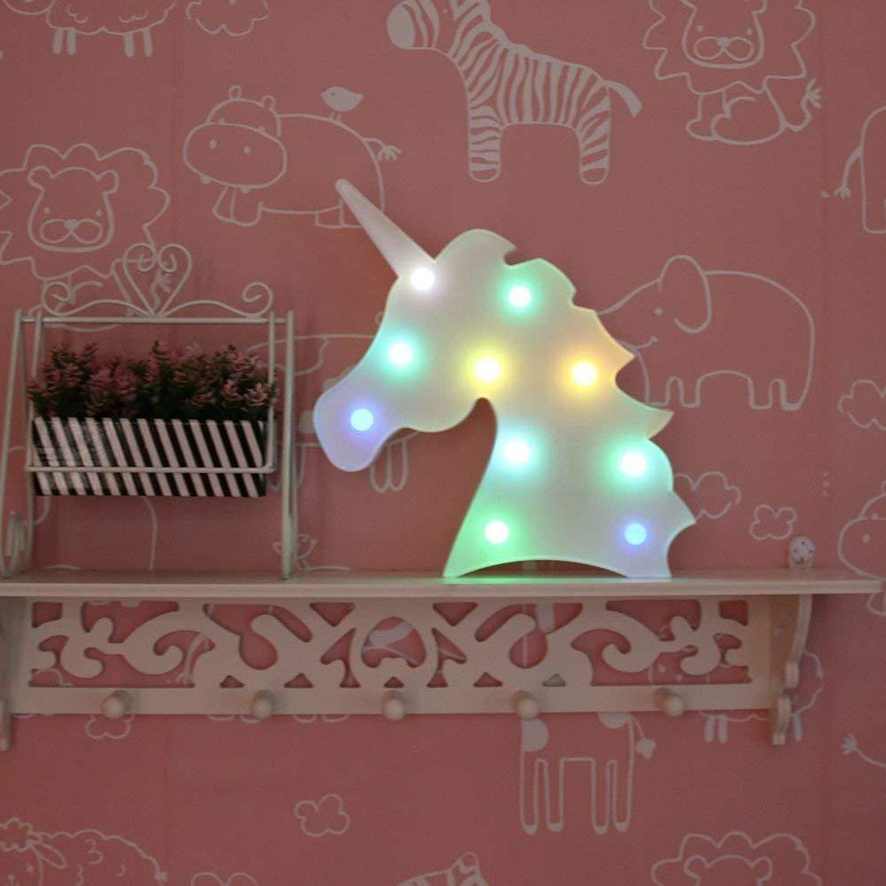 QIANGUANG Luz Nocturna LED Con Forma Creativa de ne/ón espejo de la llegada del t/únel dormitorio de cabecera de Navidad Muebles Para El Hogar l/ámpara de pared ni/ños Pentagrama