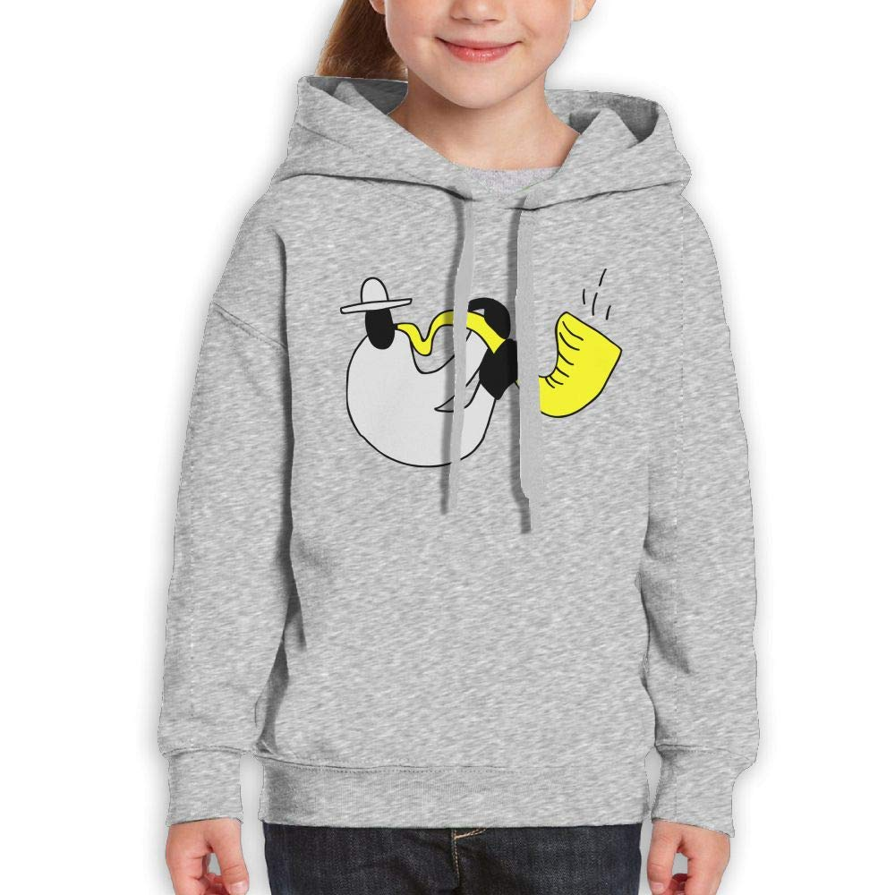 Qiop Nee Interesting Jazz Saxophonist Kids Hoodies Long Sleeve Sweatshirt for Girls by Qiop Nee (Image #1)