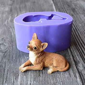 Schokolade Silikon Form Hund 3d Diy Chihuahua Fondant Deko DHIE29