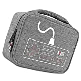 Dovewill Shockproof Storage Bag Travel Gadget Carry Case for Nintendo NES Console & Accessories Gray