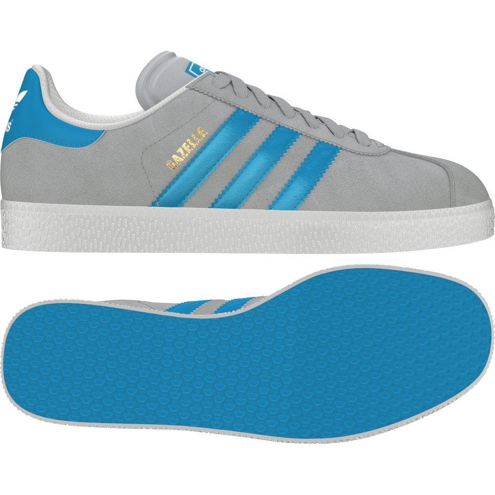 Adidas Originals Men's Gazelle II Suede Grey Blue Low Retro