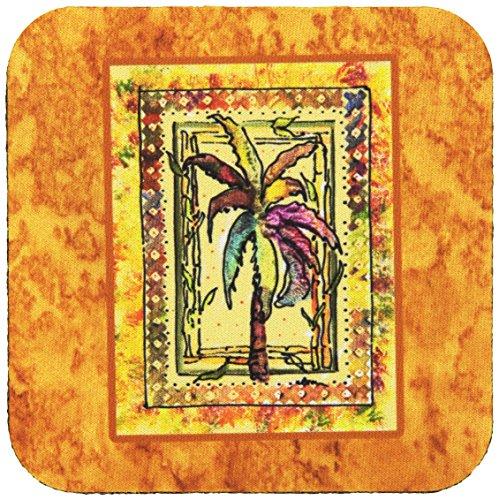 - Caroline's Treasures 8614FC Palm Tree Foam Coasters (Set of 4), 3.5
