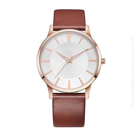 GAOY Watch Relojes Reloj Para Parejas Casual Fashion Sport Cinturón De Cuero Impermeable Reloj De Cuarzo