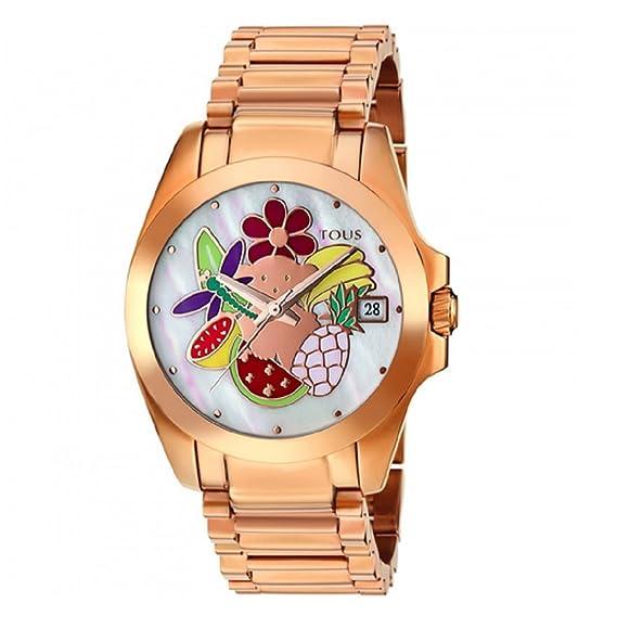 Reloj Tous Miranda de acero IP rosado con nácar