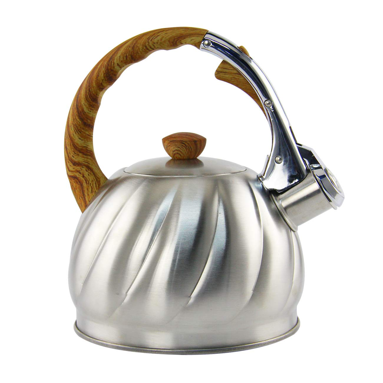 Riwendell Tea Kettle 2.1 Quart Whistling Stainless Steel Stove Top Teapot (GS-04571B-2.0L) by Riwendell