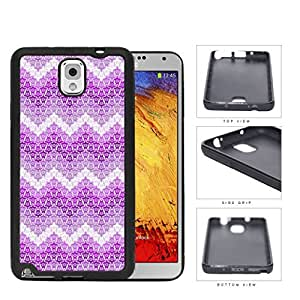Mini Turtles In Chevron Pattern Pink Rubber Silicone TPU Cell Phone Case Samsung Galaxy Note 3 III N9000 N9002 N9005