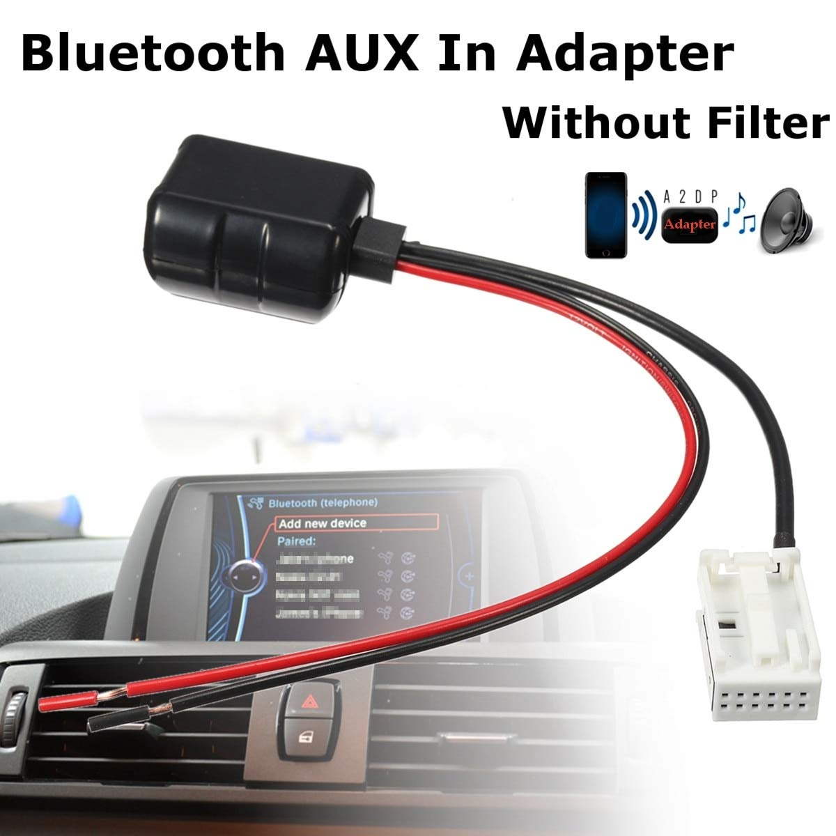 Amazon Com Davitu 12 Pins Car Bluetooth Aux Receiver Adapter Radio
