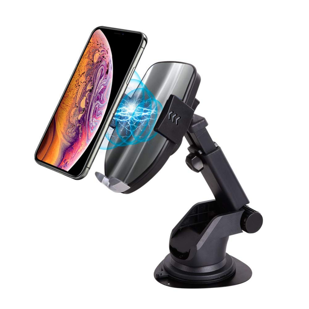 Wireless Charger Car Mount, Qi Fast Wireless Charger with Automatic Sensing Holder & Air Vent Phone Holder Compatible with iPhone Xs Max/XR/X 8 Plus & Samsung Galaxy S10 /S10+/S9