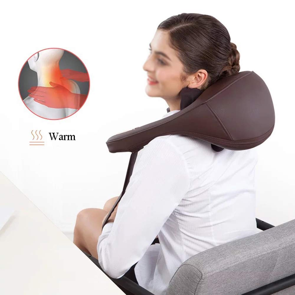 GAOQQ Shiatsu Back Neck and Shoulder Massager - Cervical Spine Kneading Multi-Function Legs/Foots Massager for Office Home Car Use by GAOQQ (Image #7)