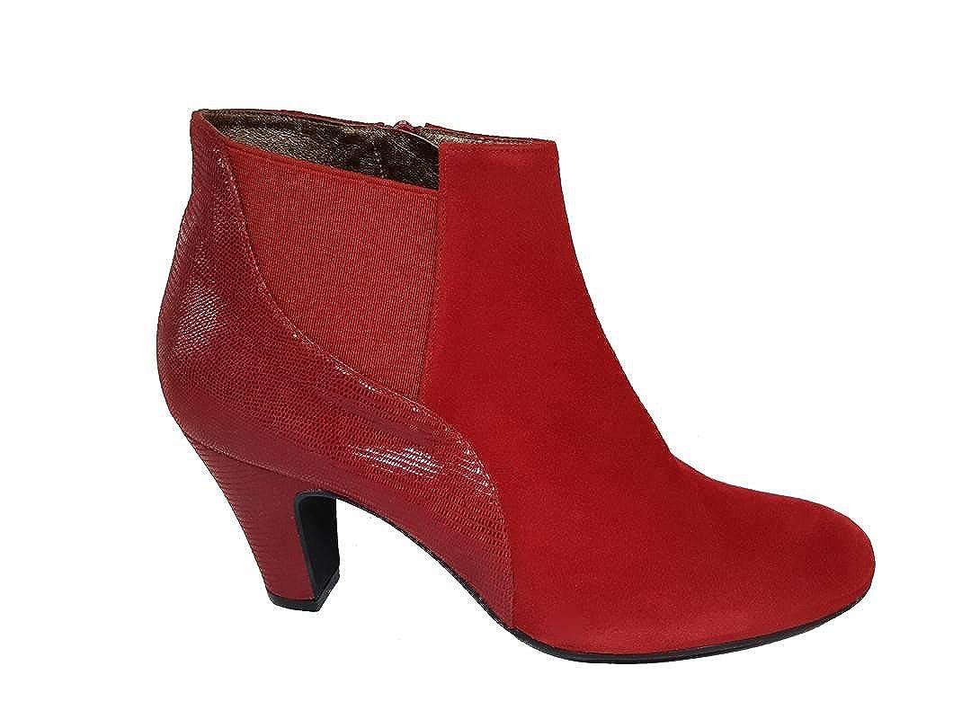 Gennia - XULALO. - Gennia Damen Chelsea Stiefel & Stiefeletten mit Absatz 6 cm Velourleder Print \ ef84b5