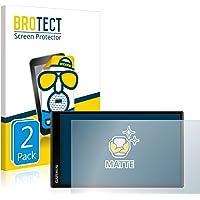 BROTECT 2x Antireflecterende Beschermfolie compatibel met Garmin DriveSmart 65 Anti-Glare Screen Protector, Mat…