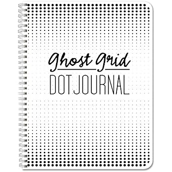 """BookFactory Ghost Grid Dot Journal 120 pages 5.5"""" x 8.5"""" Wire-O (JOU-120-HLCW-A(DotJournalNG))"""