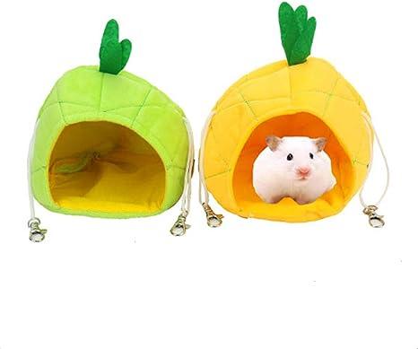 Warm Soft Mini Animal Pet Bed Nest Fruit Shape Rat Hamster Hanging House Cage