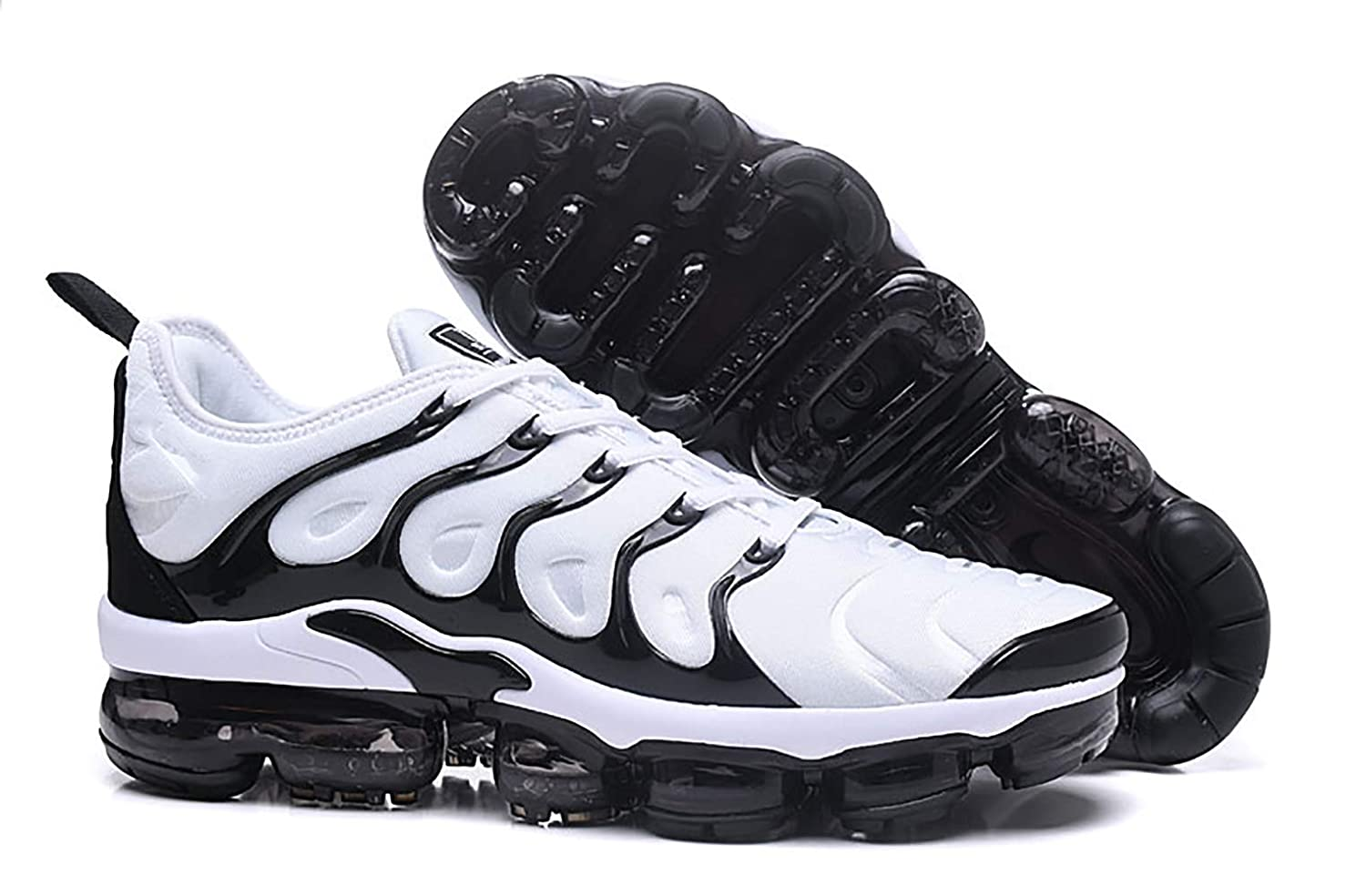 f27860992f Amazon.com | RUNSHOT Men's Air Vapormax Plus TN Running Shoe Basketball  Shoes -White and Black Stripes | Basketball