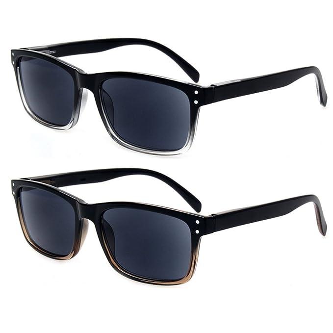 Amazon.com: Pack de 2 lectores de gafas de sol unisex de ...