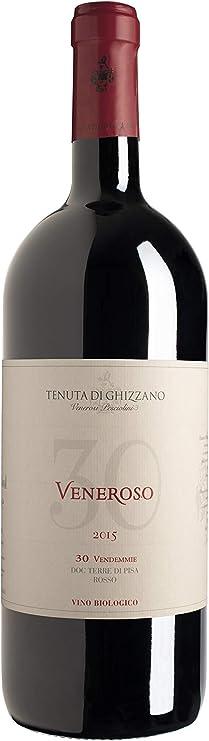 Tenuta di Ghizzano - Veneroso 2015 DOC Tierras de Pisa - Vino Tinto italiano, de Toscana. Fino, Ecológico, Orgánico. Botella magnum 1,5 lt con caja de madera: Amazon.es: Alimentación y bebidas