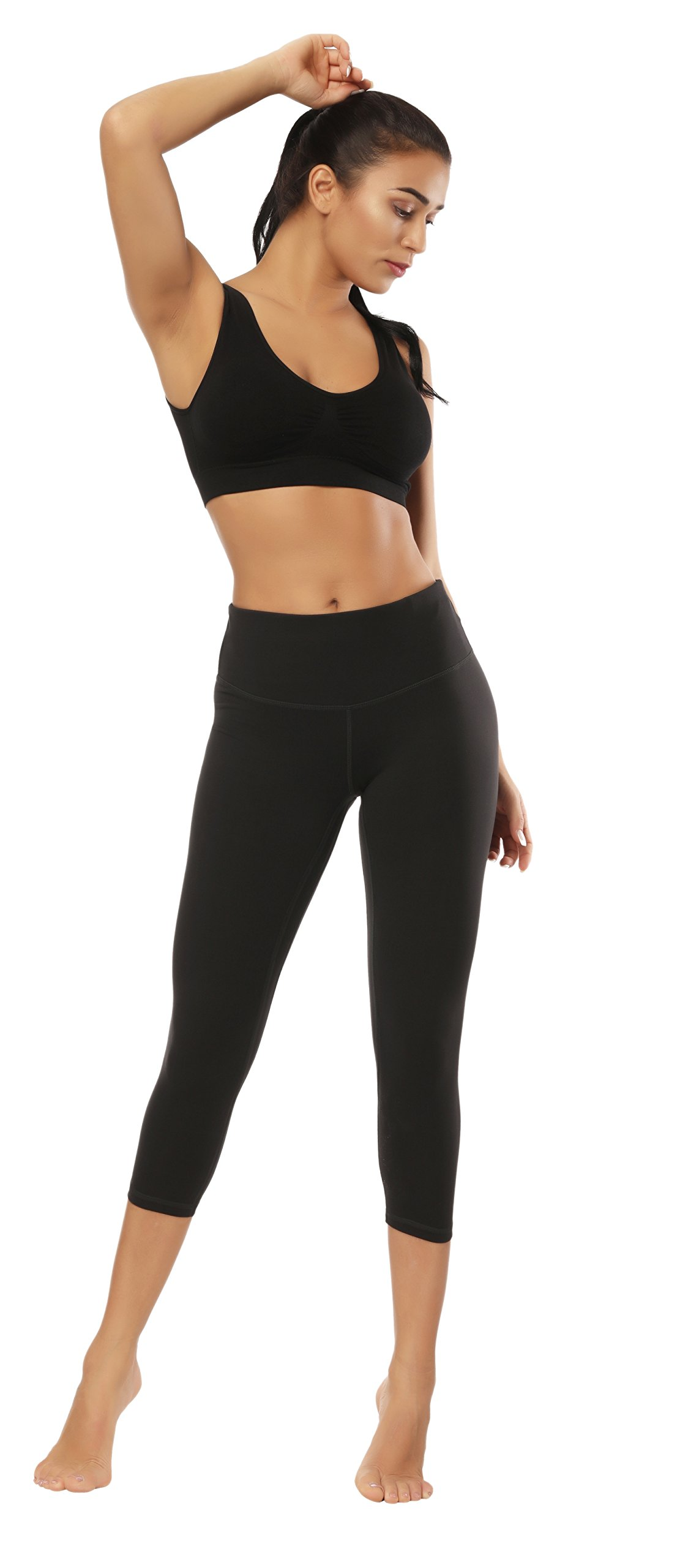 Fengbay Capris Leggings, Capris Yoga Pants Tummy Control Workout Running 4 Way Stretch High Waist Capris Workout Leggings by Fengbay (Image #6)