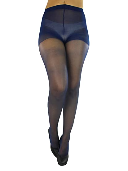 5c958ed02e1 Navy Blue Spandex Sheer Control Top Hosiery Tights at Amazon Women s  Clothing store  Navy Sheer Stockings