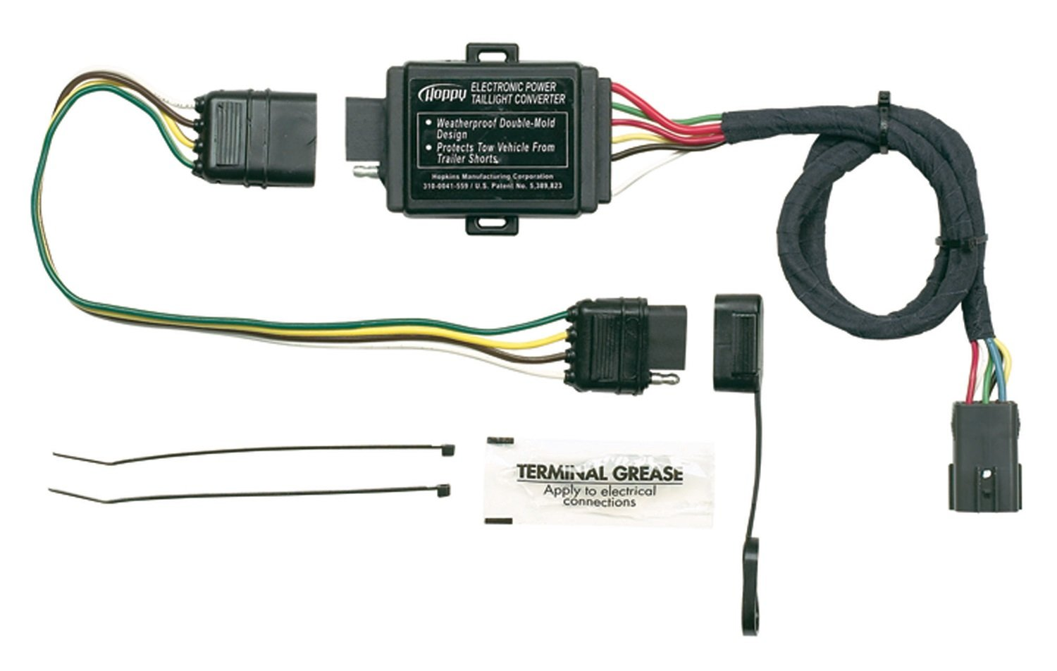61dKvjPegbL._SL1500_ amazon com hopkins 11143875 plug in simple vehicle to trailer universal trailer wiring harness at gsmx.co