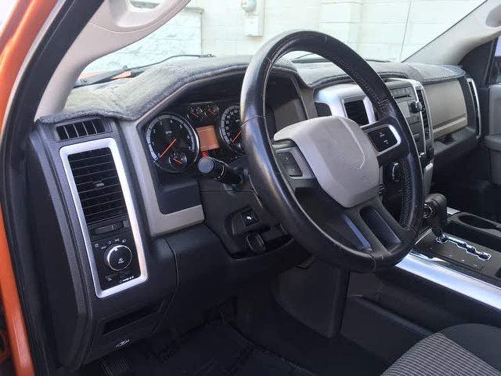 4500 5500 2011-2018 Dashboard Cover Pad Yiz Dash Cover Mat Custom Fit for Dodge Ram 1500 2009-2018 J17 2500 3500 2010-2018 11-18 Gray