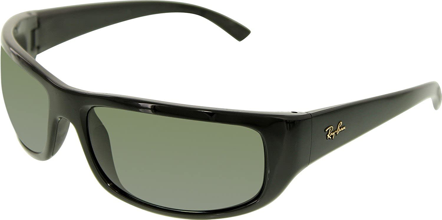 ray ban men s rb4176 601 58 64 black wrap sunglasses ray ban rh amazon ca