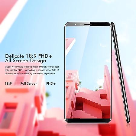 Cubot X18 Plus 4G Smartphone Libres Android 8.0 Huella Dactilar 4+ ...