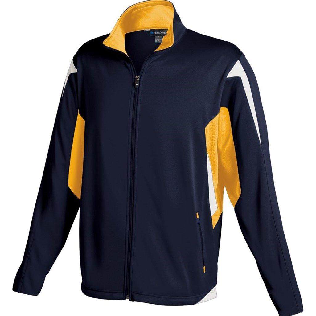 Holloway Youth Dedication Jacket (Small, Navy/Light Gold/White)