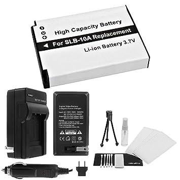 SLB-10 A alta capacidad batería de repuesto con rápido cargador de ...