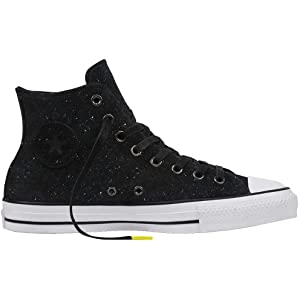 270ec101f1a5 Converse Chuck Taylor All Star Pro Peppered Suede Hi Black White Black Men s  10.5