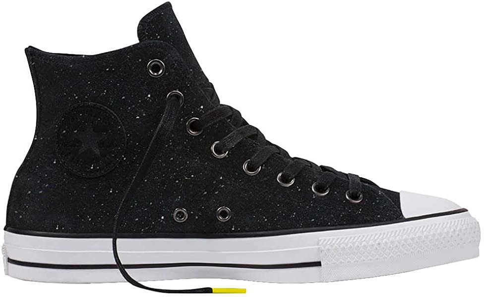 7a73c6a8b0a2 Converse Chuck Taylor All Star Pro Peppered Suede Hi Black White Black Men s  9.5