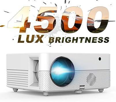 Proyector de vídeo – 4500Lux Brillante Hompow proyector de película, Full HD 1080P soporta 50.000 Horas LED, Compatible con TV Stick/HDMI/VGA/USB/Box/ Laptop/DVD/PS4 para Cine en casa, Juego: Amazon.es: Electrónica
