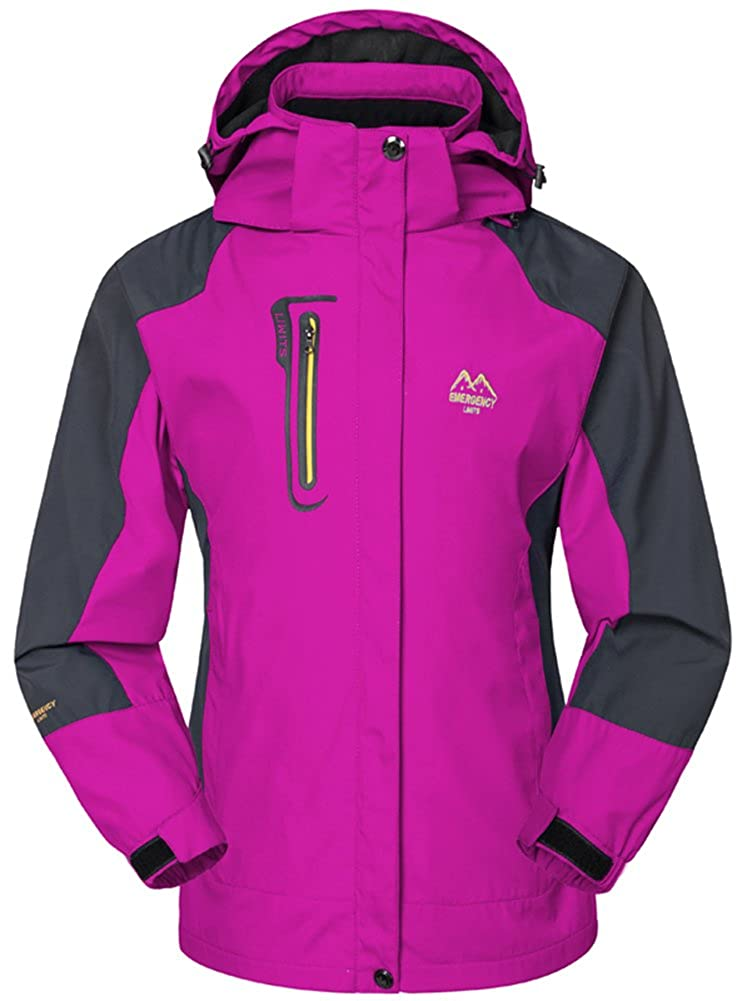 AbelWay Womens Mountain Waterproof Windproof Softshell Hooded Rain Jacket at Amazon Womens Coats Shop