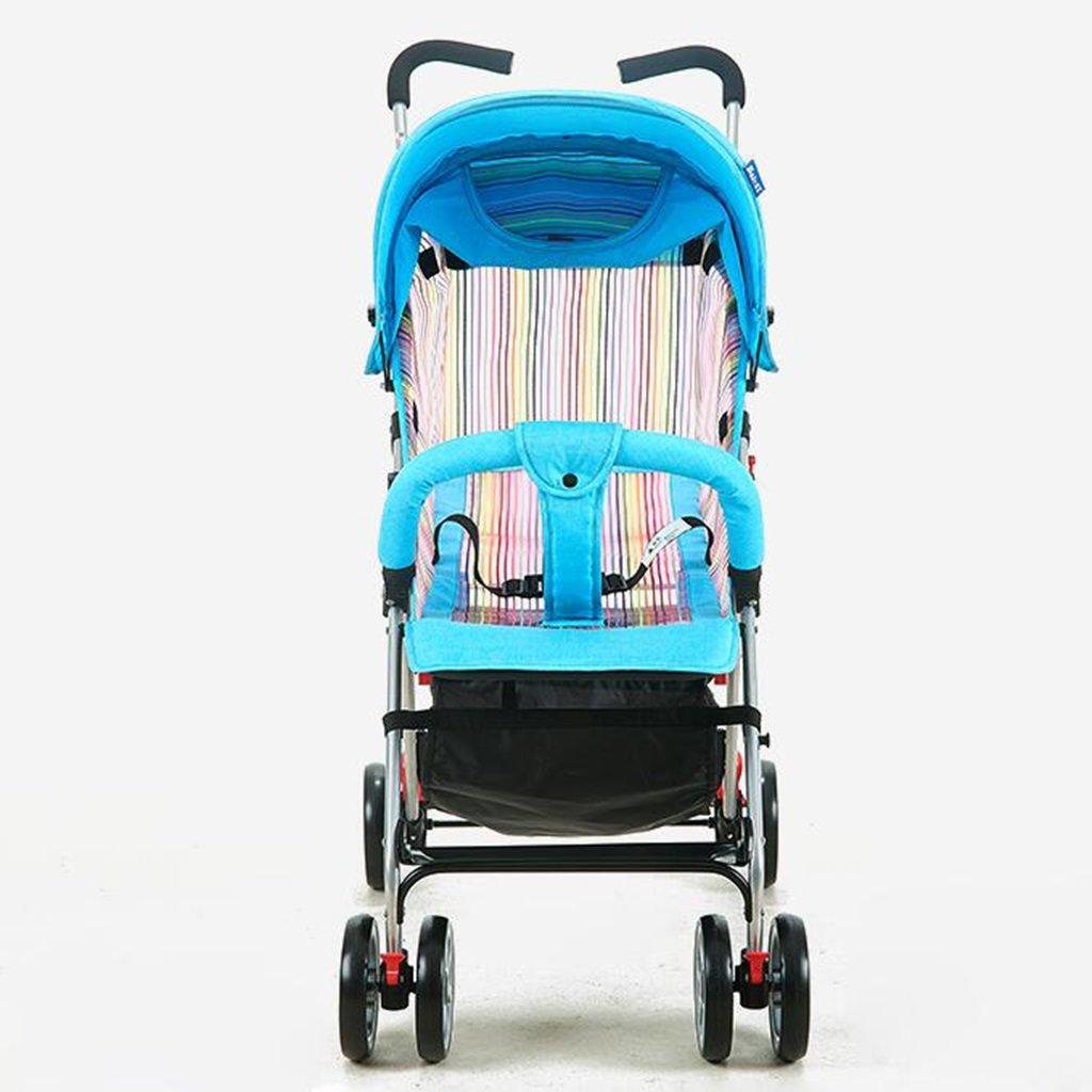 HAIZHEN マウンテンバイク 赤ちゃんのベビーカー夏の網状の換気超軽量座って/ショックアブソーバを寝らせることができますEVAの泡ホイール折り畳み可能な調節サンシャインの戸別ショッピングバスケットでベビーキャリッジ 新生児 B07DL8H2QR