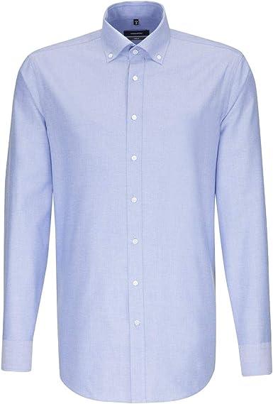 Seidensticker Modern Langarm Mit Button-Down Kragen Soft Uni Smart Chemise Business Homme