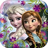 """Disney's Frozen Party 9"""" Square Lunch/Dinner Plates (pack of 8)"""