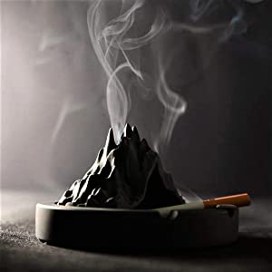 Tubeshine Volcanic Cigarette Ashtray, Outdoors Indoors Concrete Ash Tray, Desktop Smoking Ashtrays for Home Office Decoration