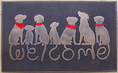 A1 Home Collections A1HOME200041 Rubber Dog Tail Welcome Doormat