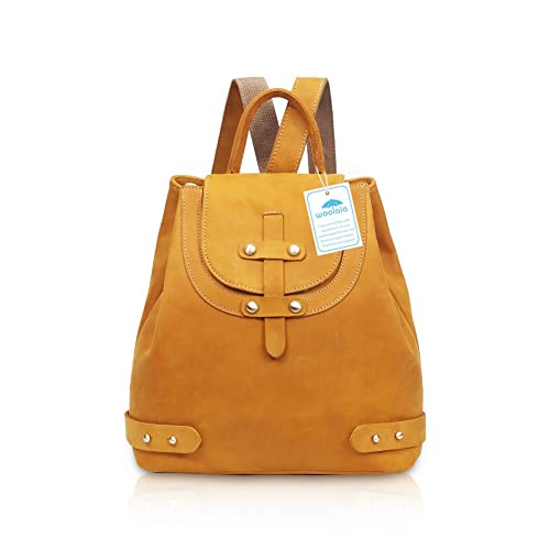 456e453b5c19 Yoome Vintage Crazy-Horse Leather Backpack Purse Simple Design Women  Shoulder Handbag Brown  Amazon.co.uk  Shoes   Bags